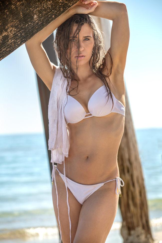 amy rose hancock swimwear white bikini